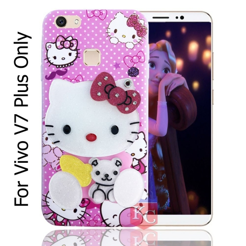 Mirror Pink Doll For Back Cover Vivo V7 Plus - Pink